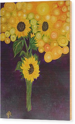 Sunflower's Dream Wood Print