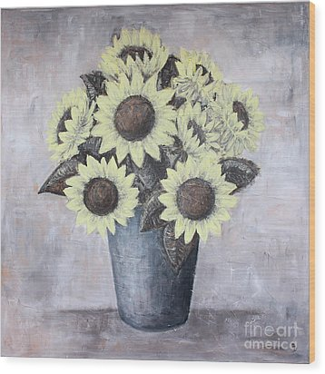 Sunflowers Wood Print by Home Art