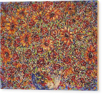 Sunflowers  Wood Print by Natalie Holland