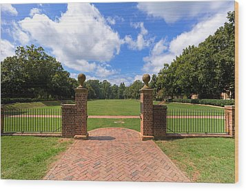 Wood Print featuring the photograph Sunken Garden At William And Mary by Jerry Gammon