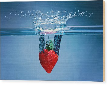 Sunken Strawberry Wood Print