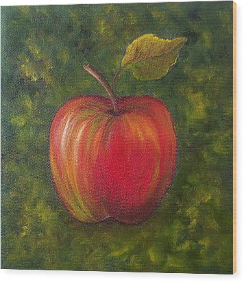 Sunlit Apple Sold Wood Print by Susan Dehlinger