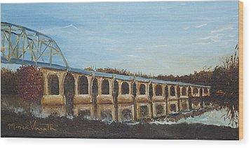 Sunlit Bridge Wood Print by Monica Veraguth