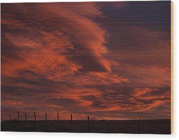 Sunlit Fire Wood Print