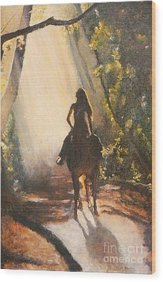 Sunlit Path Wood Print by Diana Besser