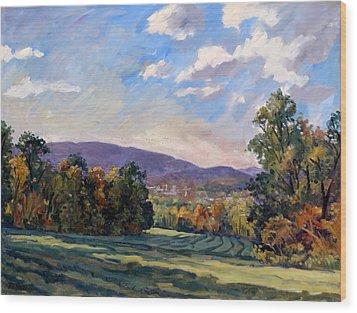 Sunny Autumn Berkshires Wood Print
