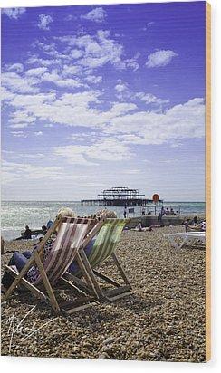 Sunny Brighton Wood Print by Max CALLENDER