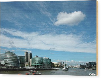 Sunny Day London Wood Print by Jonah  Anderson