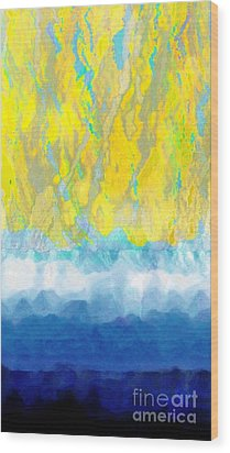 Wood Print featuring the digital art Sunny Day Waters by Darla Wood