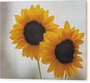 Sunny Flower On A Rainy Day Wood Print