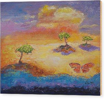Sunny Islands Wood Print by William Killen