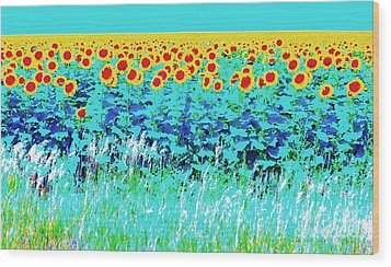 Sunny Kansas Wood Print by Ann Johndro-Collins