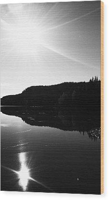 Sunny Mirror Wood Print