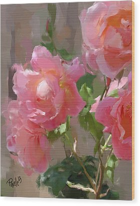 Sunny Roses Wood Print by Jim Pavelle