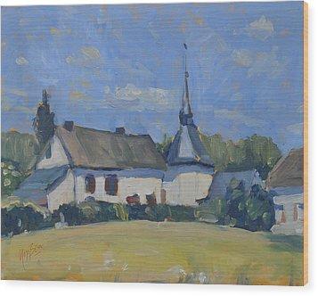 Sunny Saturday In Lellingen Kiischpelt Luxemburg Wood Print