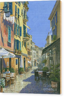 Sunny Side Of The Street 30 X 40 - Sold Wood Print by Michael Swanson