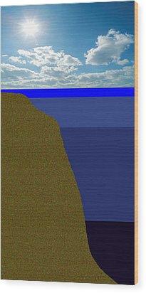 Sunny Sky Over Dead Oceans 2 Wood Print by Bruce Iorio