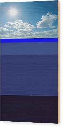 Sunny Sky Over Dead Oceans Wood Print by Bruce Iorio