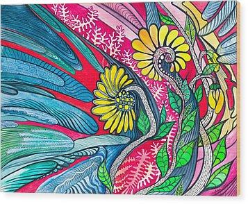 Sunny Spring Wood Print by Adria Trail