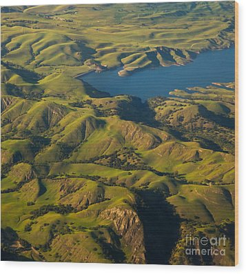 Sunol Wilderness From Above Wood Print by Matt Tilghman