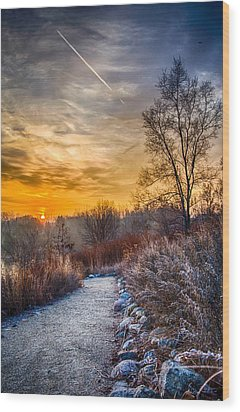 Sunrise 12-2-13 01  Wood Print by Michael  Bennett