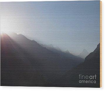 Sunrise Above Gangotri Wood Print
