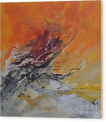 Sunrise - Abstract Wood Print by Ismeta Gruenwald