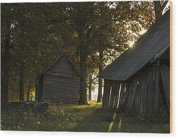 Wood Print featuring the photograph Sunrise by Amber Kresge