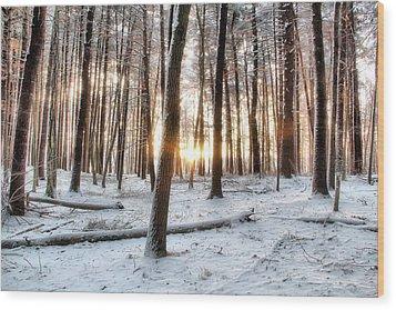 Sunrise Wood Print by Andrea Galiffi