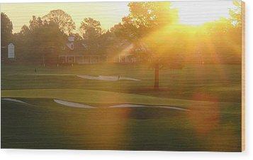 Sunrise At Augusta National Wood Print by Bo  Watson
