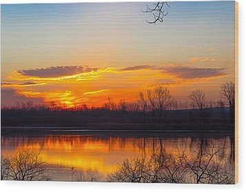 Sunrise At Clear Creek Wood Print