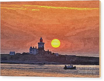 Sunrise At Coquet Island Northumberland - Photo Art Wood Print