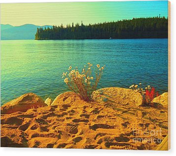 Sunrise At Daisy Lake Wood Print by Ann Johndro-Collins