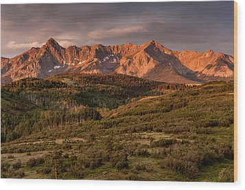 Sunrise At Dallas Divide Wood Print