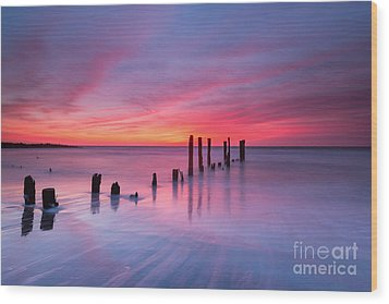 Sunrise At Deal Nj Wood Print by Michael Ver Sprill