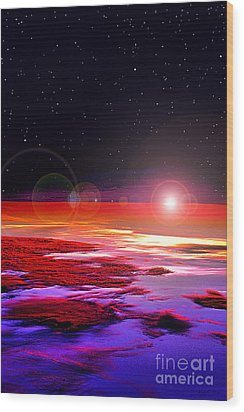 Sunrise At Fourty Thousand  Wood Print by Adam Olsen