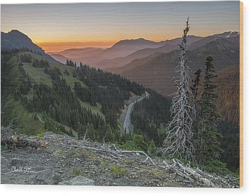 Sunrise At Hurricane Ridge - Sunrise Peak Wood Print