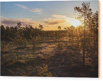 Sunrise At Linnaistensuo Wood Print by Janne Mankinen