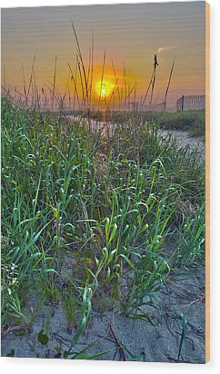 Wood Print featuring the photograph Sunrise At Myrtle Beach by Alex Grichenko