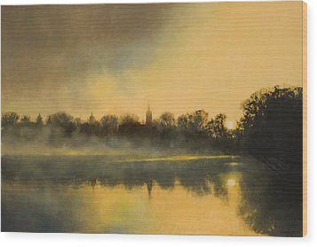 Sunrise At Notre Dame Sold Wood Print by Cap Pannell