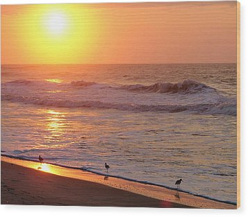 Sunrise At Ocean Isle Wood Print