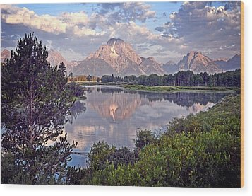 Sunrise At Oxbow Bend 4 Wood Print by Marty Koch