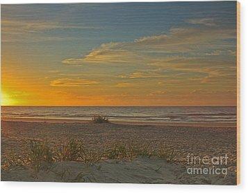 Sunrise At Pawleys Island I Wood Print