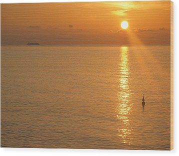 Wood Print featuring the photograph Sunrise At Sea by Photographic Arts And Design Studio