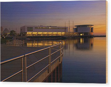 Sunrise At The Lakefront Wood Print by Jonah  Anderson