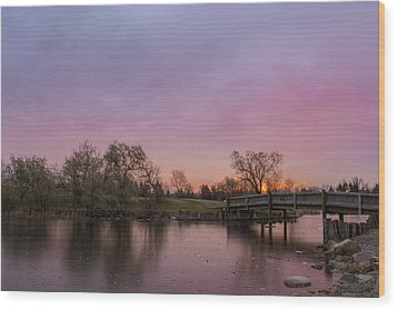 Sunrise At The Park Wood Print by Dwayne Schnell