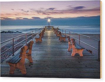 Sunrise At The Pier Wood Print by Steve Stanger