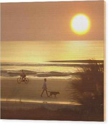 Sunrise At Topsail Island 2 Wood Print by Mike McGlothlen