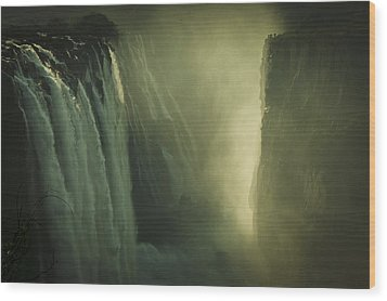 Sunrise At Victoria Falls Wood Print by Alison Buttigieg