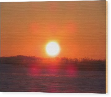 Wood Print featuring the photograph Sunrise At Wroxton by Ryan Crouse